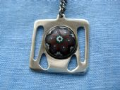 Caithness 'Paperweight' Glass and Silver Pendant Necklace Hallmarked Glasgow 1963(SOLD)
